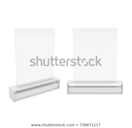 Table Tent isolated on black background. 3D Stock photo © user_11870380