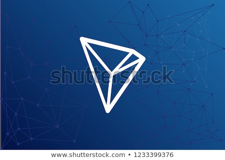 Tron Virtual Currency Coin. Vector Graphic Symbol of TRX. Stock photo © tashatuvango