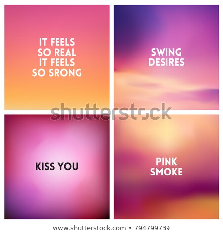 abstract vector red blurred background set 4 colors set square blurred backgrounds set   sky clouds stock photo © marysan