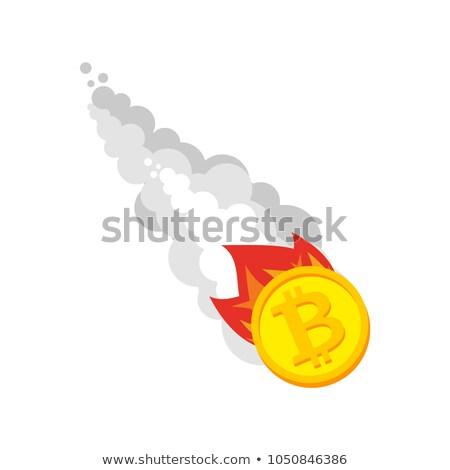 Drop bitcoin.  Price of Crypt is decreasing. End of Bitcoin era Stock photo © popaukropa