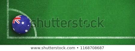Calcio Australia colori bianco nero calcio angolo Foto d'archivio © wavebreak_media