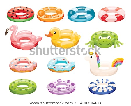 A Set of Children in Swimming Ring Stock photo © bluering