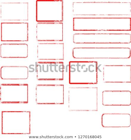 Approvato gomma francobolli raccolta grunge ufficio Foto d'archivio © 5xinc