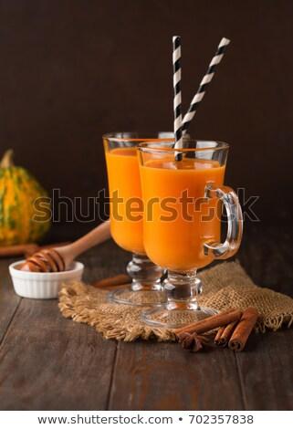 здорового · морковь · льстец · оранжевый · корицей · стекла - Сток-фото © Melnyk