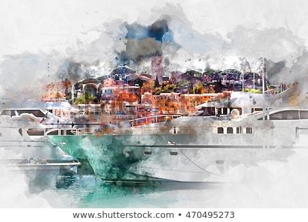 Kép kikötő öreg város francia Franciaország Stock fotó © FreeProd