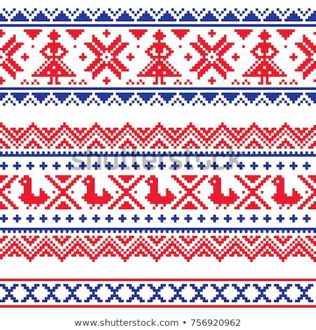 зима Рождества вектора традиционный вышивка Сток-фото © RedKoala