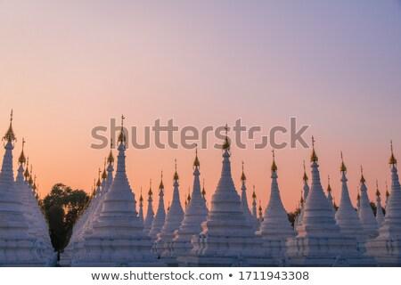 Sandamuni Pagoda stupas tops in Mandalay, Myanmar Stock photo © romitasromala