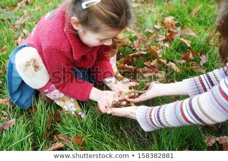 Heureux jouer boue illustration nature paysage Photo stock © bluering