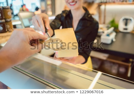 Vásárló bit sajt pult tesztelés minőség Stock fotó © Kzenon