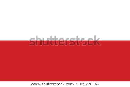 Polonya bayrak beyaz işaretleri rüzgâr şerit Stok fotoğraf © butenkow