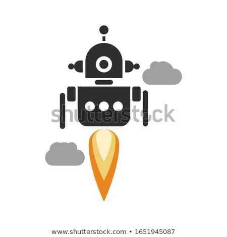 Hombre astronauta vuelo cielo robot Foto stock © jossdiim