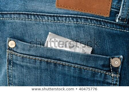 Prezervatif kot geri cep kız seks Stok fotoğraf © FOKA