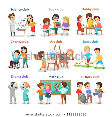 Set of Different Clubs for School Children Card Stock photo © robuart