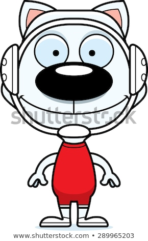Cartoon souriant lutteur chaton heureux sport Photo stock © cthoman