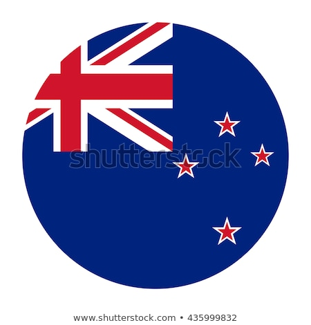 New Zealand flag on round badge Stock photo © colematt