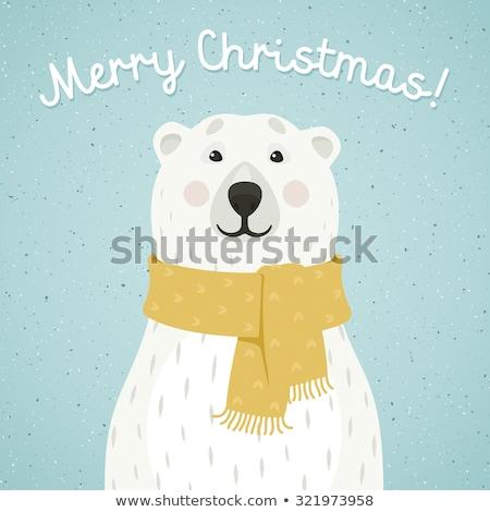 Cartoon Polar Bear Celebrating Stock photo © cthoman