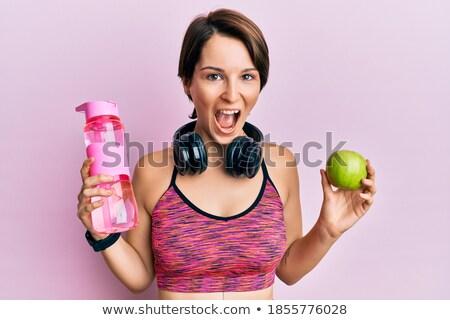 короткие волосы женщины набор спортивная одежда успех бизнеса Сток-фото © toyotoyo