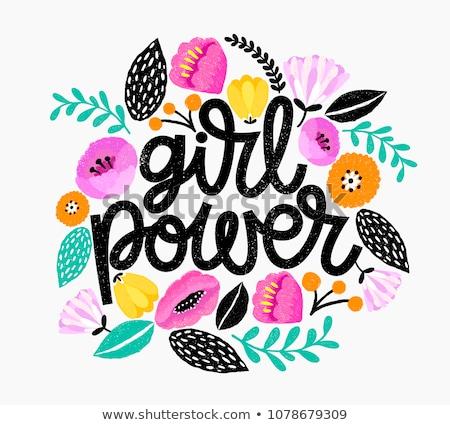 girl power banner concept foto stock © anna_leni