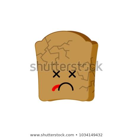 Száraz kenyér izolált halott étel szem Stock fotó © MaryValery