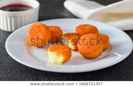 Brie fritters with cranberry sauce Stock photo © Alex9500