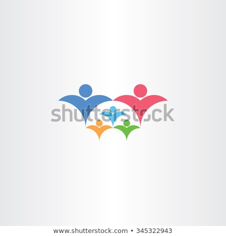 family rich with kids icon third child vector concept Stock photo © blaskorizov