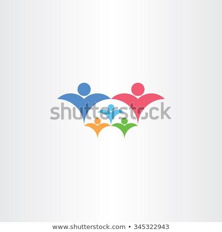 Rodziny bogate dzieci ikona trzeci dziecko Zdjęcia stock © blaskorizov