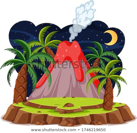вулкан · лава · острове · изолированный · белый · горные - Сток-фото © blaskorizov