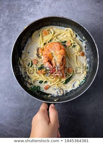 Spaghetti aragosta pan illustrazione natura design Foto d'archivio © bluering