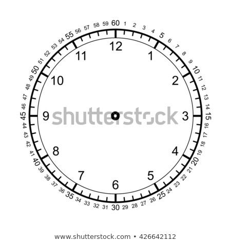 telling time with clock educational activity Stock photo © izakowski