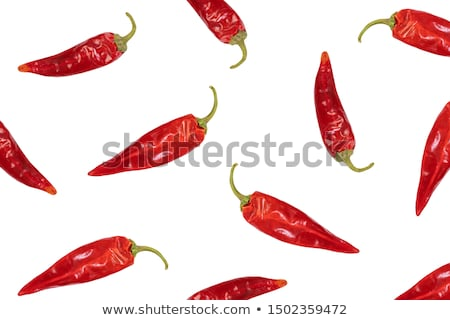 Dried red chili peppers Stock photo © szefei