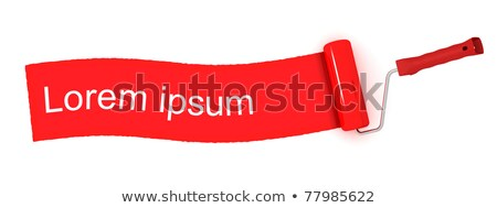 Paint roll painting red stripe Stock photo © icefront