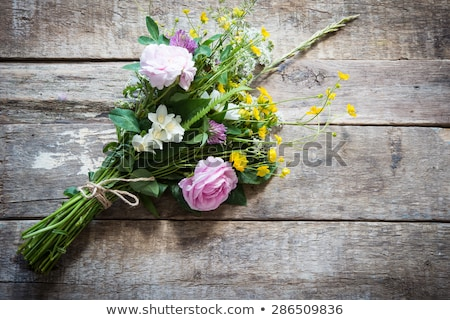 Bridal bouquet of wild flowers on a wedding table Stock photo © ruslanshramko