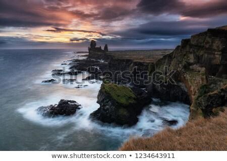 Londrangar basalt cliffs, Iceland Stock photo © Kotenko