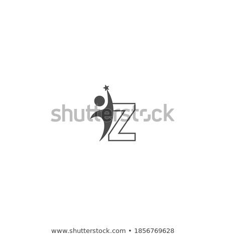 Man icon logo teken vorm Stockfoto © blaskorizov