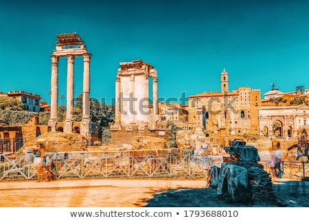 Remains of Temple of Vesta in Roman Forum Stock photo © boggy