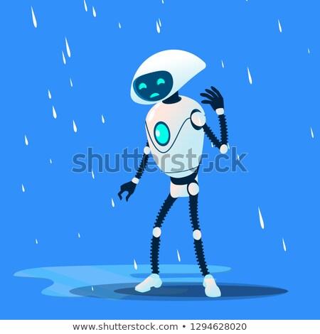 печально робота дождь вектора изолированный иллюстрация Сток-фото © pikepicture
