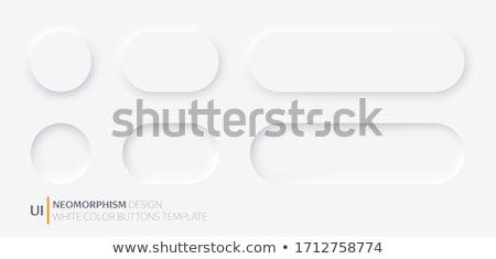 Botão branco espaço limpar www círculo Foto stock © creisinger