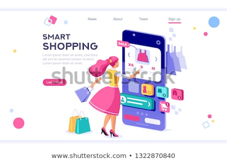 Online shopping concept isometric 3D banner header. Stock photo © RAStudio