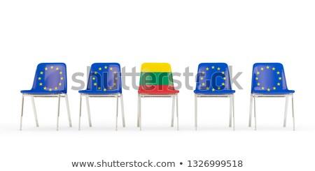 Cadeiras bandeira Lituânia isolado Foto stock © MikhailMishchenko