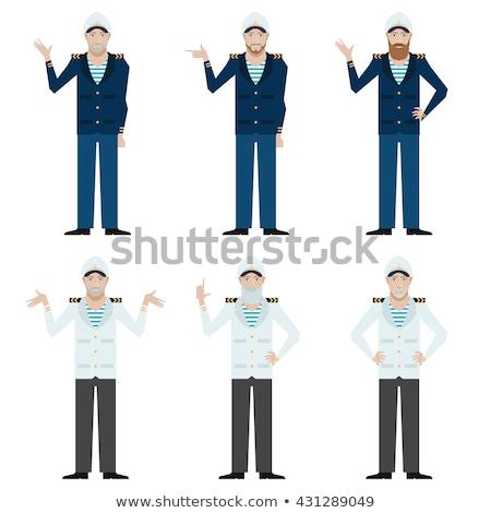 Stock photo: Sailor characters set