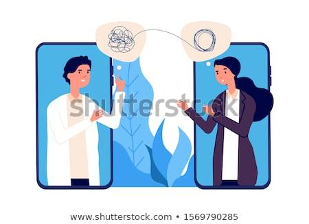 Psicólogo serviço masculino paciente treinador psicologia Foto stock © RAStudio