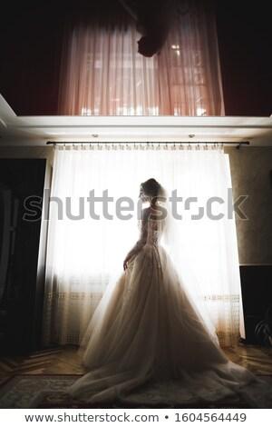 Beleza retrato noiva moda vestido de noiva Foto stock © ruslanshramko