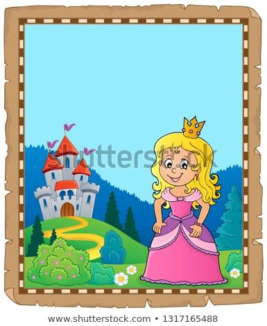 Princesa tópico pergaminho papel menina verão Foto stock © clairev