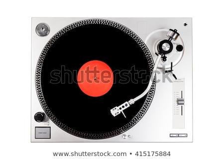 vinyl record player. isolate on white background Stock photo © studiostoks