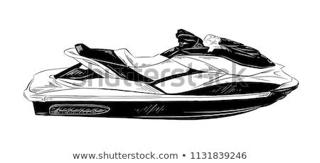 Vintage jet ski odznaki projektu elementy Zdjęcia stock © netkov1