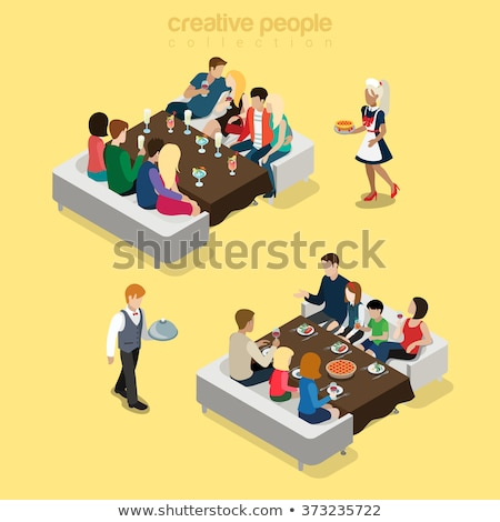3d friendly group of people stock photo © ribah