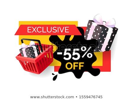 Ekskluzywny produktów cena banner wektora Zdjęcia stock © robuart