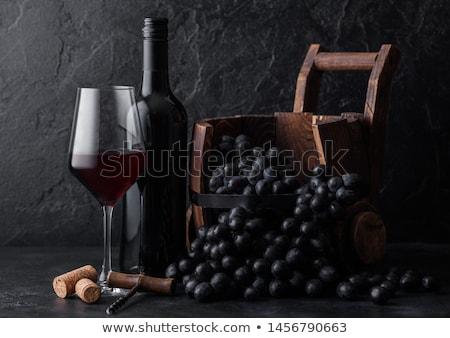 элегантный стекла темно виноград бутылку Сток-фото © DenisMArt