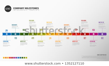 Full year timeline template Сток-фото © orson