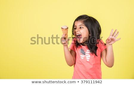 мороженым Бар улыбаясь иллюстрация черно белые продовольствие Сток-фото © bennerdesign